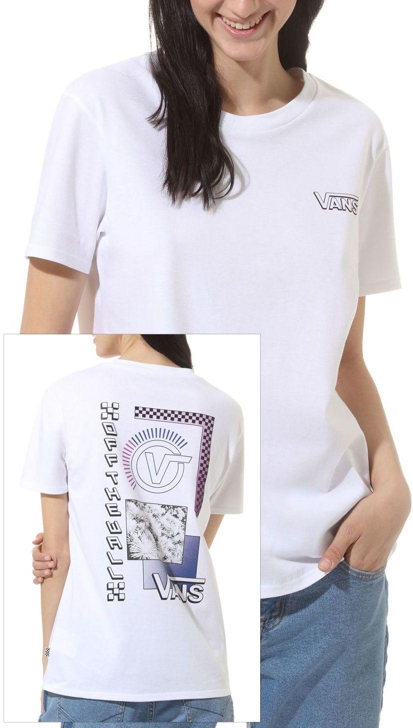 t-shirt damski VANS COMMUNITY COLLAGE White