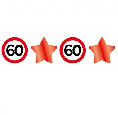 Girlanda znaki i gwiazdy na 60 urodziny Znak