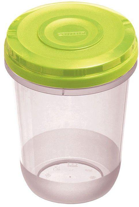 Dajar Pojemnik do kuchenki mikrofalowej Fusion Fresh Limette 1 l, tworzywo sztuczne, przezroczysty zielony, 11 x 11 x 15,5 cm