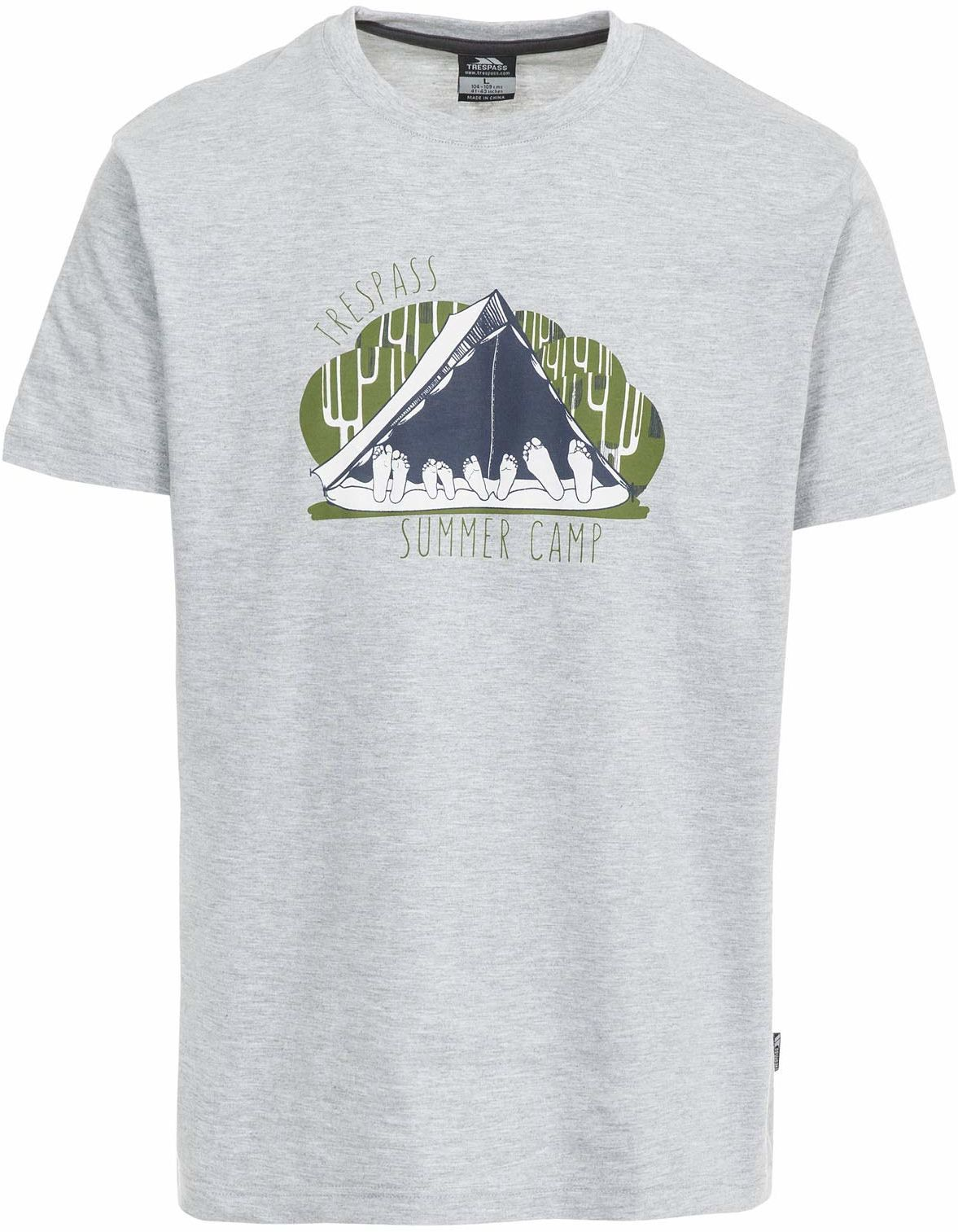 Trespass męska koszulka z krótkim rękawem Szary melanżowy XXS
