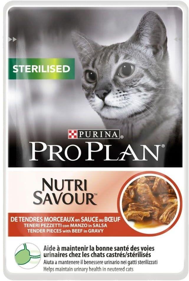 Purina Pro Plan Nutri Savour 85g STERILISED Wołowina