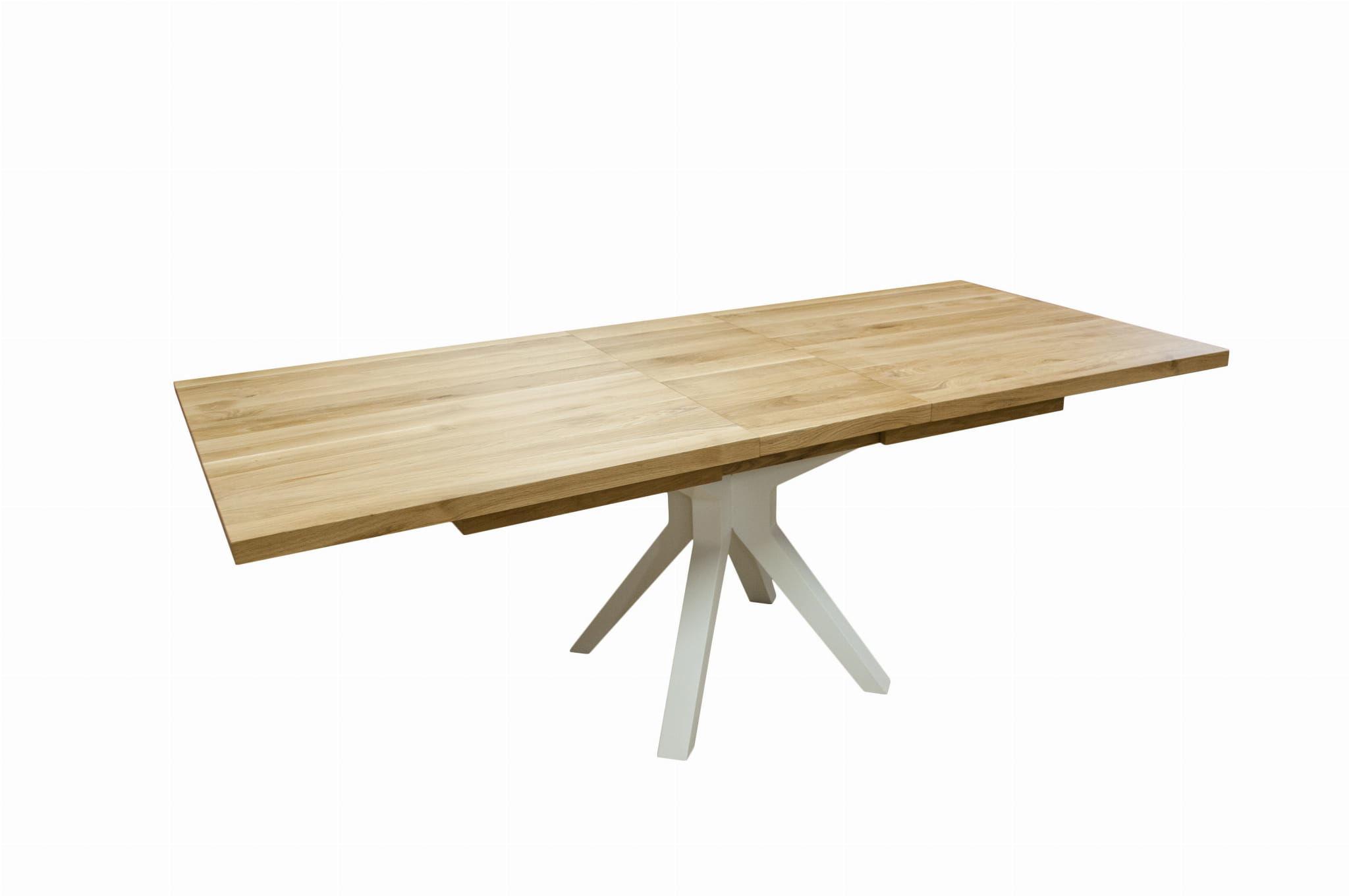 Stół dębowy RANGO rozkładany do 4,5m z nogą metalową