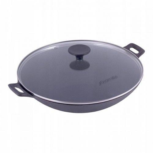Patelnia głęboka wok żeliwny 30cm
