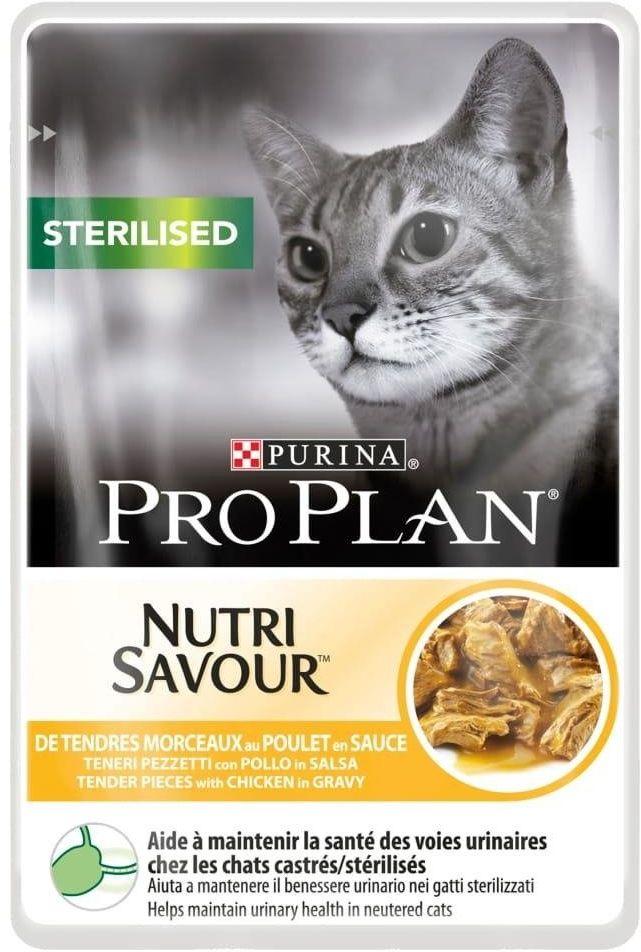 Purina Pro Plan Nutri Savour 85g STERILISED Kurczak