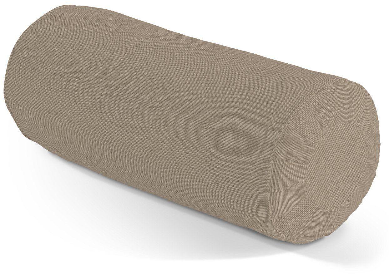 Poduszka wałek z zakładkami, Grey Brown (szary brąz), Ø20  50 cm, Cotton Panama
