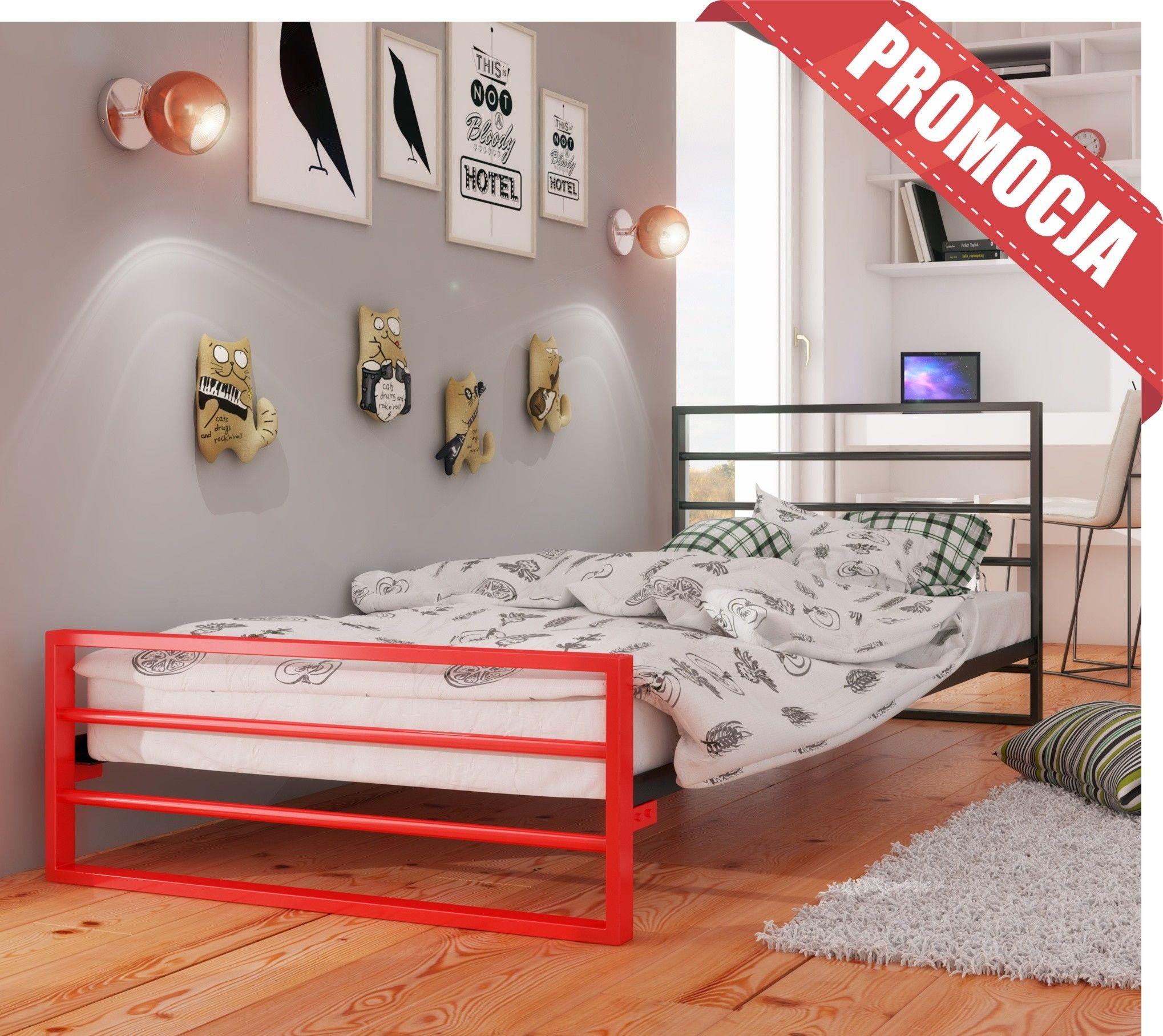 Łóżko młodzieżowe 160x200 wzór 7J DuoColor ze stelażem