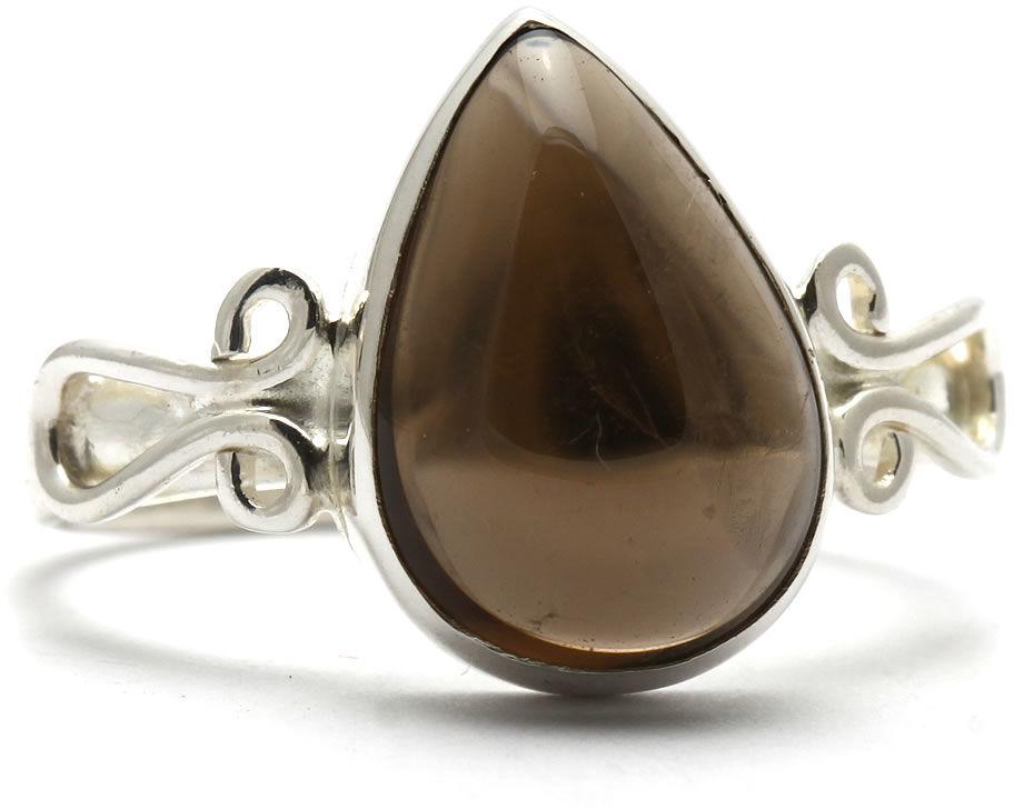 Kuźnia Srebra - Pierścionek srebrny, rozm. 17, Kwarc Dymny, 3g, model