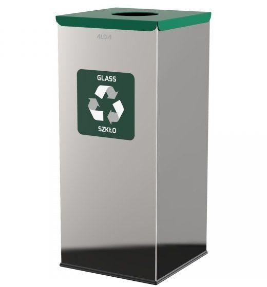 Kosz do segregacji odpadów EKO SQUARE PRESTIGE 60L szkło