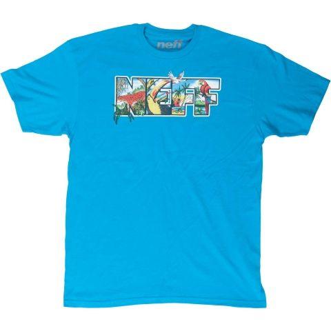 t-shirt męski NEFF TOUCAN JUNGLE SS TEE/TURQUOISE