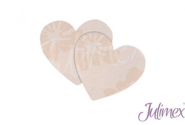 Jednorazowe osłonki na brodawki Julimex PS04 serca beżowy