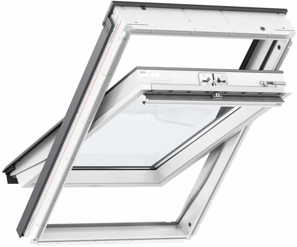 Okno obrotowe 3 szybowe GLU 0064 VELUX z górnym otwieraniem