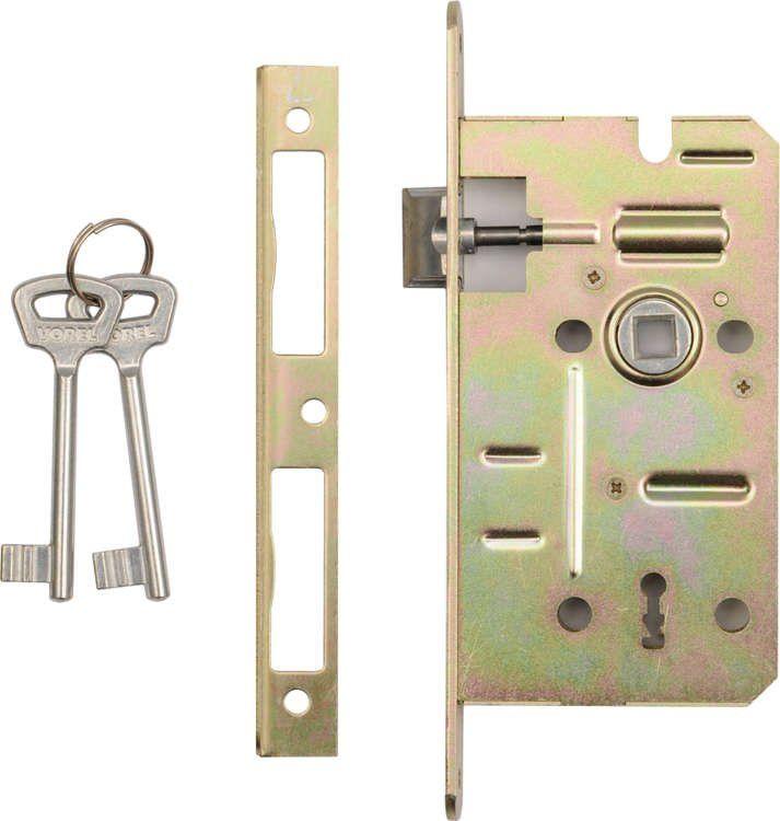 Zamek wpuszczany na klucz 60/50mm Vorel 78491 - ZYSKAJ RABAT 30 ZŁ