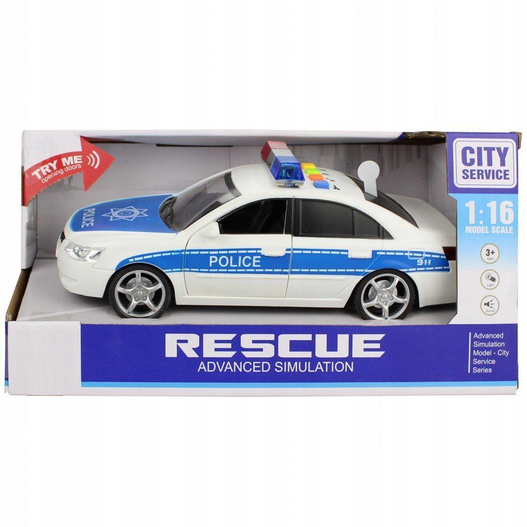 Samochód policyjny otwierane drzwi dźwięki WY560A