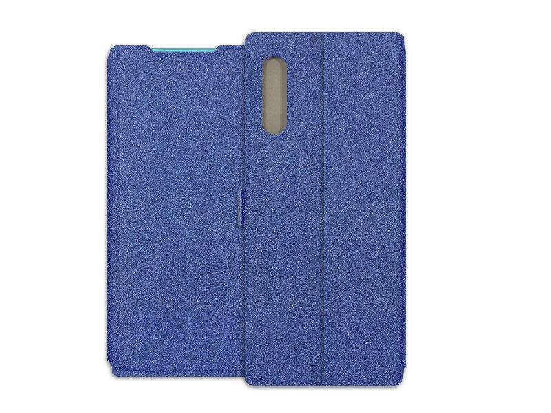 LG Velvet - etui na telefon Wallet Book - granatowy