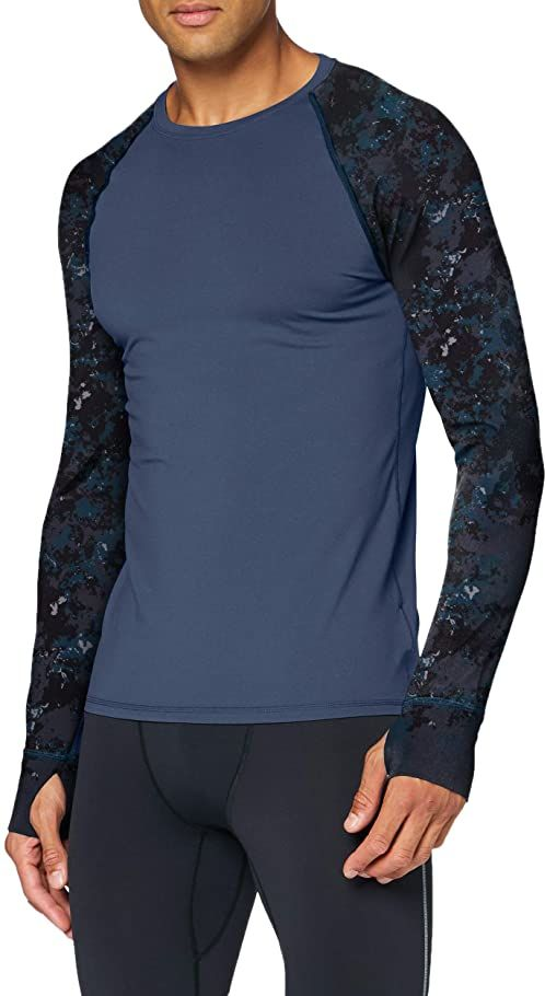 Marmot Męska koszulka bazowa z długim rękawem Crew, Stargazer/Ridge Camo, XXL