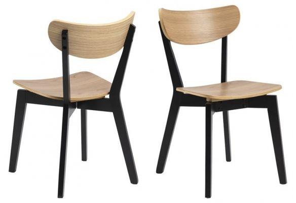 Krzesło oto dębowe nogi czarne