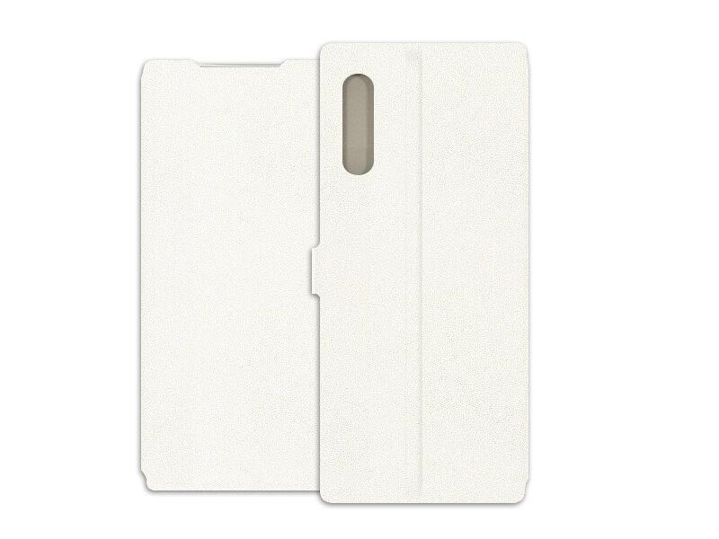 LG Velvet - etui na telefon Wallet Book - biały