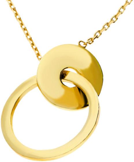 Złoty naszyjnik 333 ring z kółeczkiem klanowka