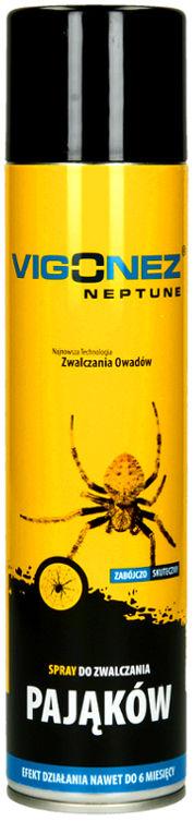 Spray na pająki Vigonez Neptune. Środek owadobójczy na pajęczaki pajęczyny 600ml