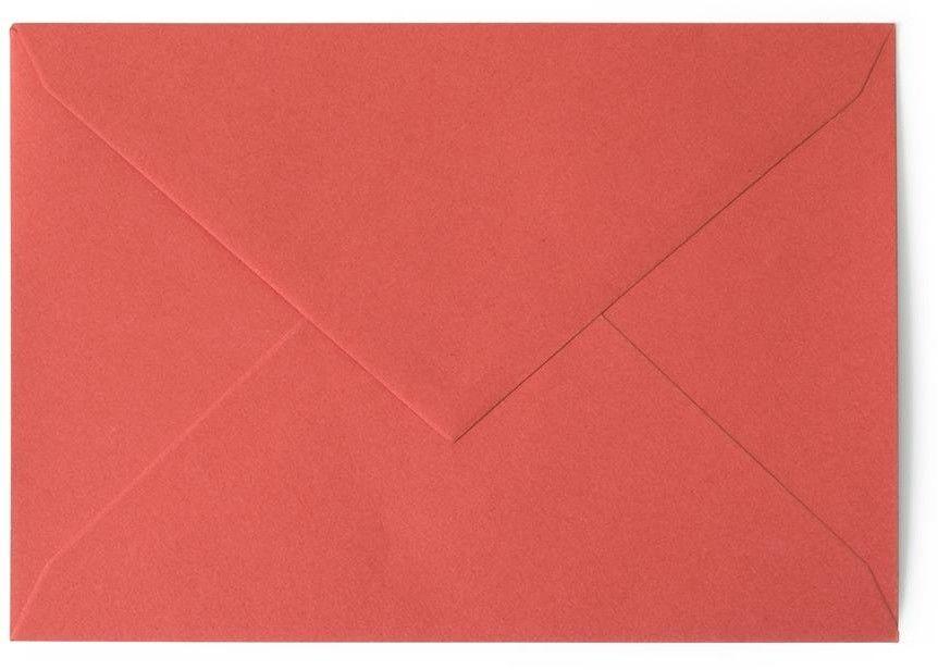 Koperta gładka kolorowa B6 20 sztuk w opakowaniu Argo czerwona Rabaty Porady Hurt Autoryzowana