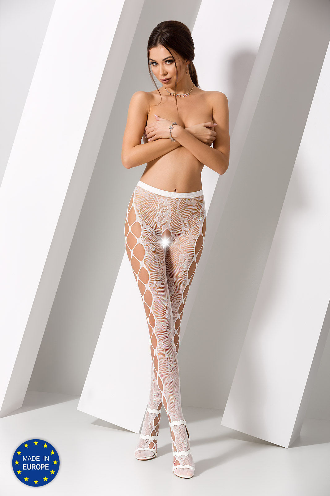 Passion S008 Tights White