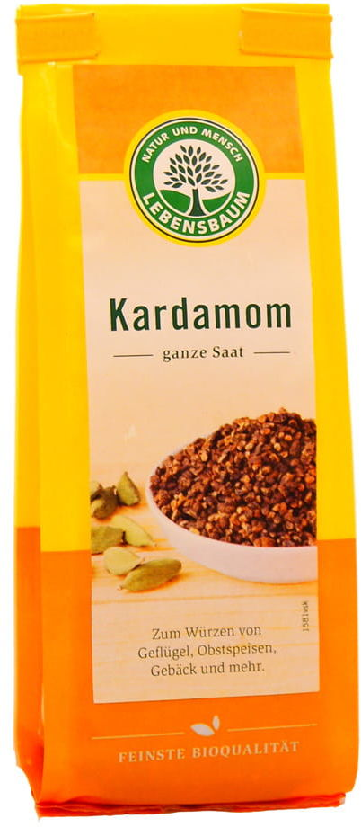 Kardamon całe ziarno BIO - Lebensbaum - 50g