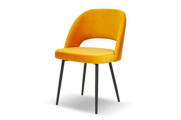 Modne krzesło tapicerowane do salonu