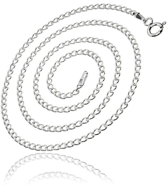 Elegancki srebrny klasyczny męski łańcuszek łańcuch pancerka pancer 50cm srebro 925 PANCER_P060