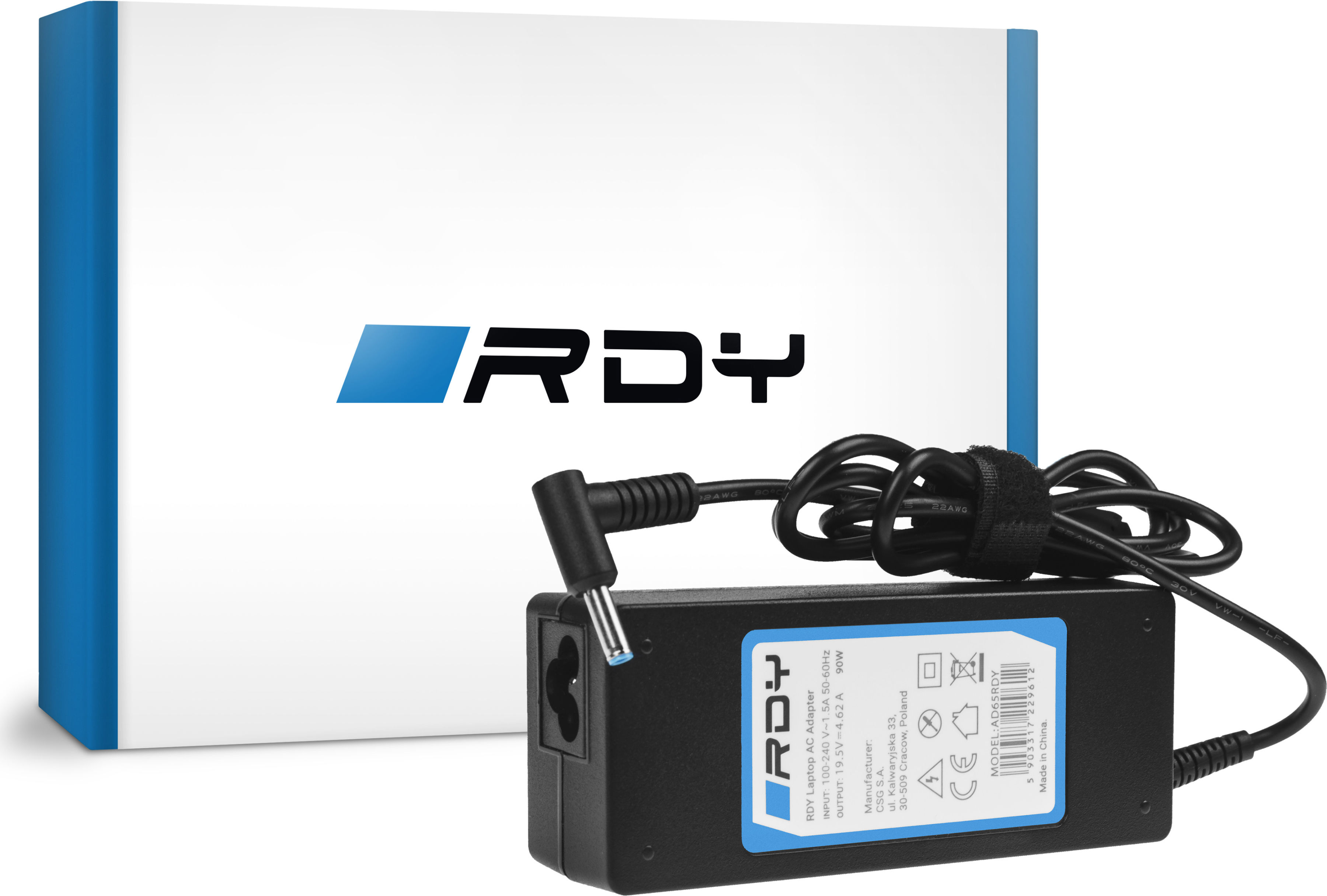Zasilacz Ładowarka RDY 19.5V 4.62A 90W do HP 250 G2 ProBook 650 G2 G3 Pavilion 15-N 15-N025SW 15-N065SW 15-N070SW
