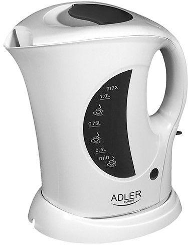 Adler Czajnik plastikowy 1,0L AD 03 Biały