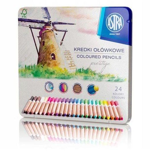 Kredki ołówkowe prestige 24 kolorów ASTRA - ASTRA papiernicze