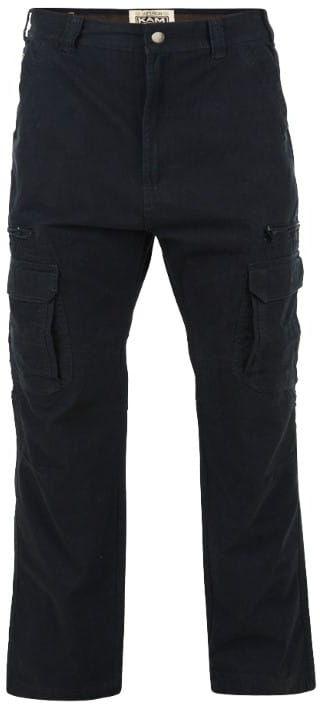 KAM 118 Spodnie Bojówki Czarne Duże Rozmiary