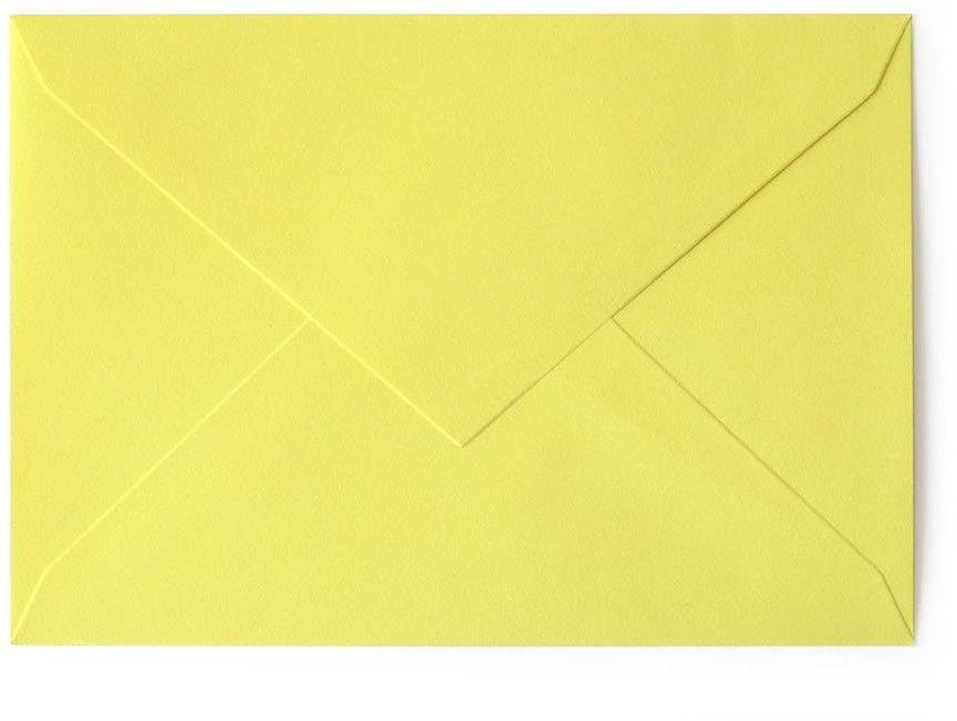 Koperta gładka kolorowa B6 20 sztuk w opakowaniu Argo żółta Rabaty Porady Hurt Autoryzowana