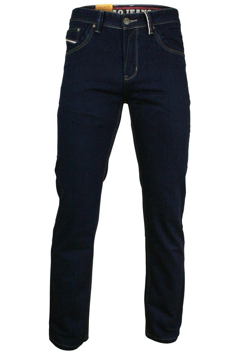 Bawełniane Spodnie Męskie, JEANSY - CHIAO - Ciemnogranatowe, Casualowe SPCHIAO18M04NZ