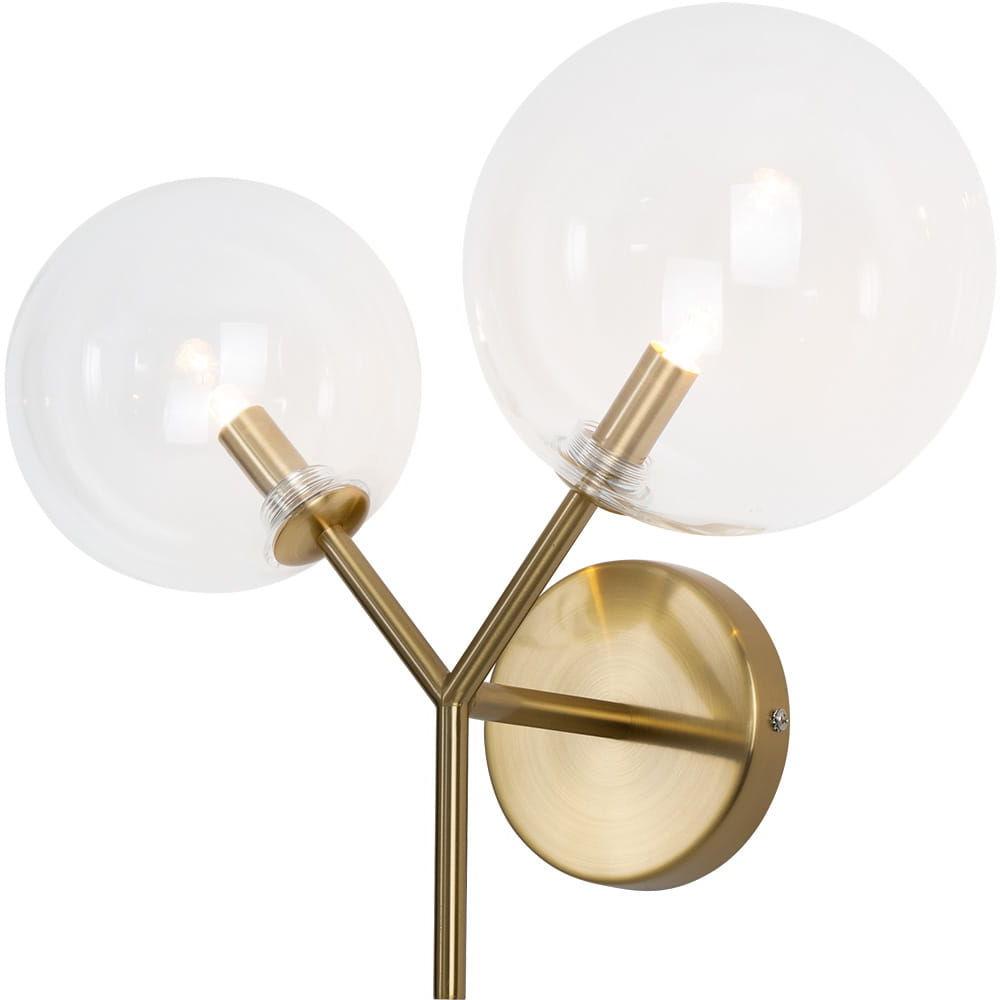 Kinkiet Lollipop W0254 MAXlight nowoczesna oprawa w kolorze mosiądzu
