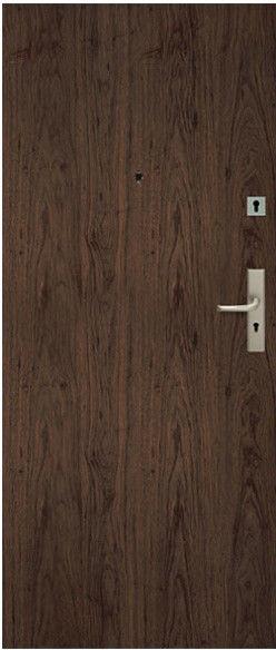 Drzwi wewnątrzklatkowe Dominos 90 lewe orzech naturalny
