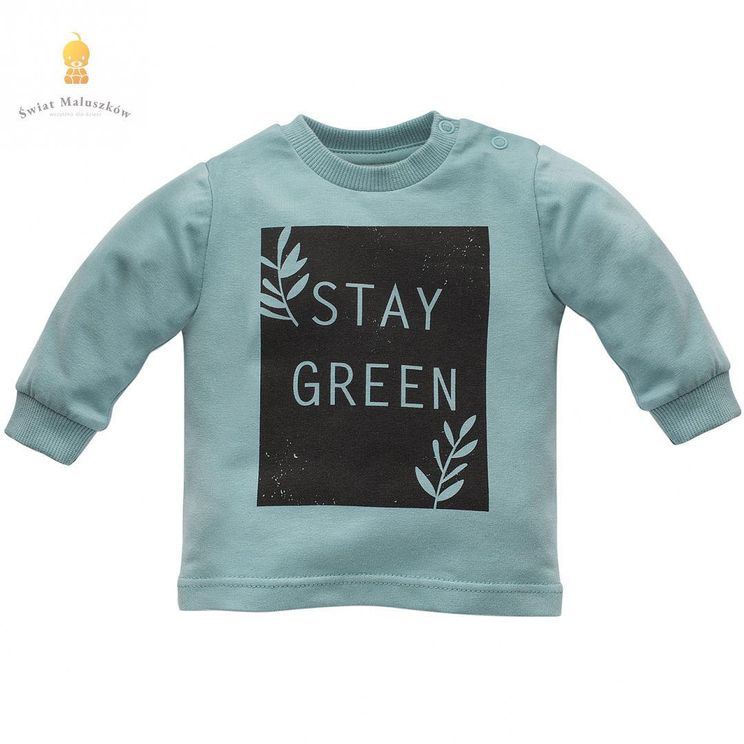 Bluzka turkusowa Stay Green