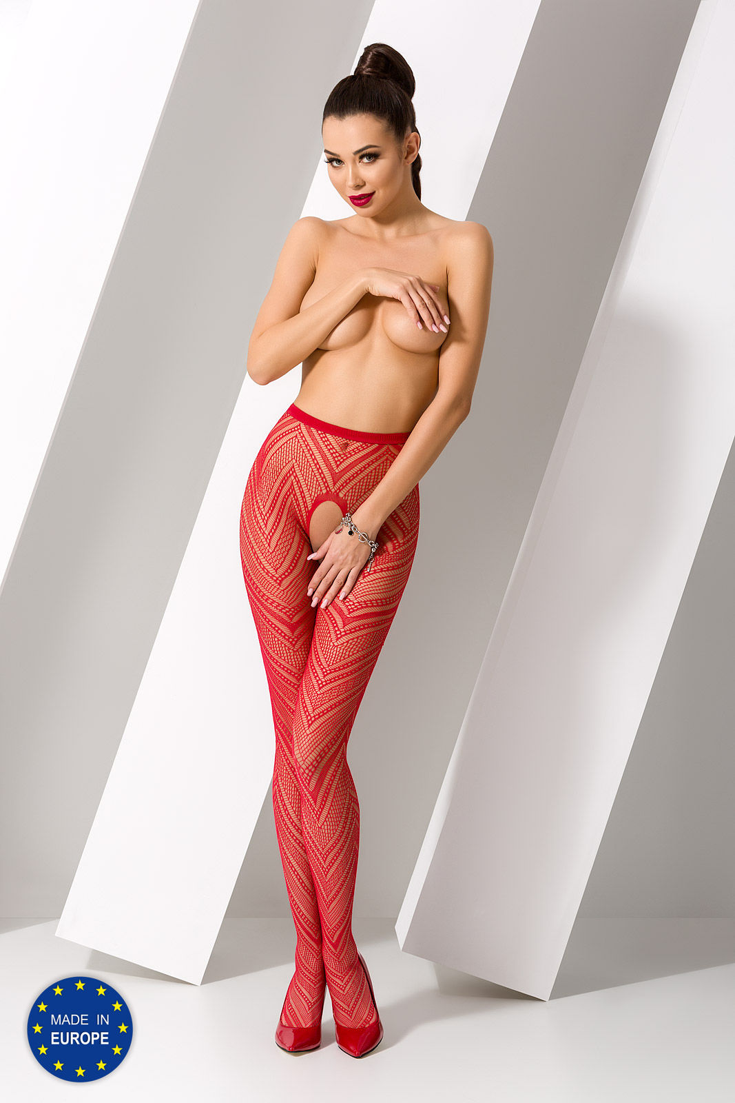 Passion S010 Tights Red