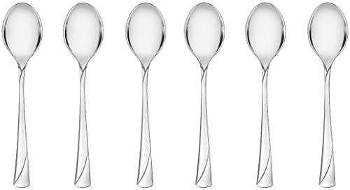 Gerlach łyżeczka do herbaty błyszcząca Valor, stal nierdzewna, srebrna, 20 x 15 x 2,5 cm, 6 sztuk