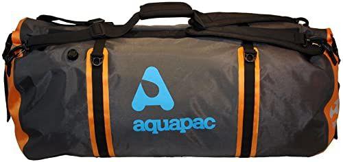 AQUAPAC Torba podróżna wodoszczelna Upano, szaro-czarno-pomarańczowa, 90 litrów, 705