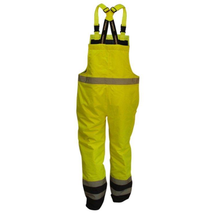 VWJK113BYN Spodnie robocze na szelkach odblaskowe ocieplane Beta Vizwell kolor: Żółty/granatowy