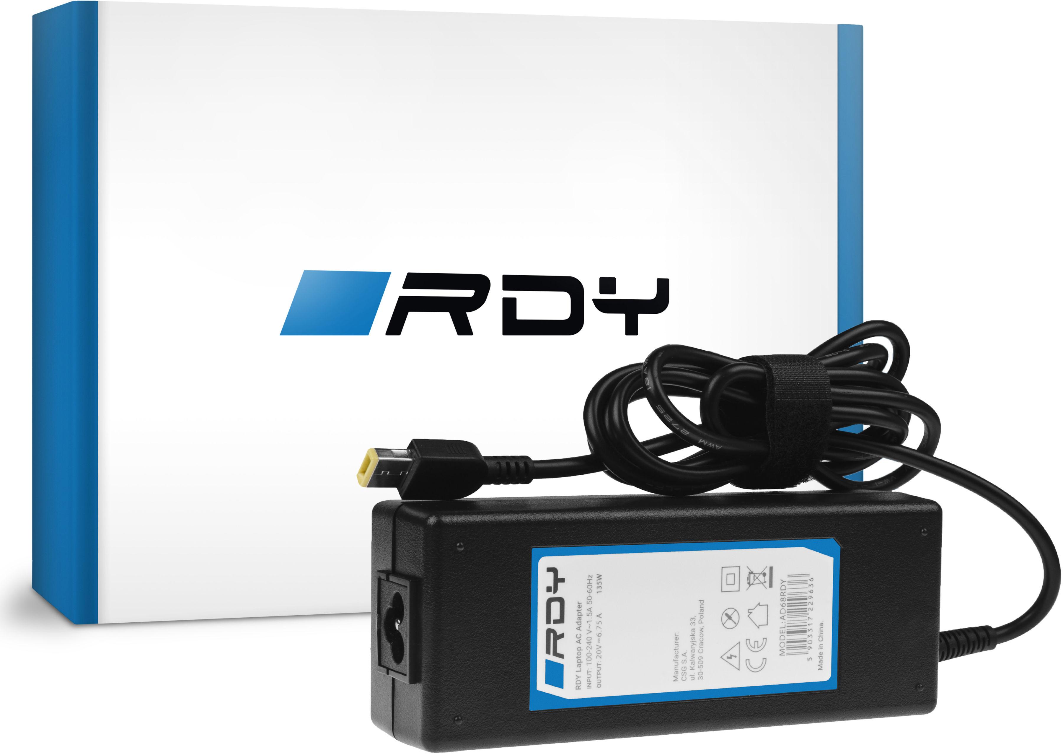 Zasilacz Ładowarka RDY 20V 6.75A 135W do Lenovo Y70 Y50-70 Y70 Y70-70 Y520 Y700 Z710 700-15ISK ThinkPad W540 T440p
