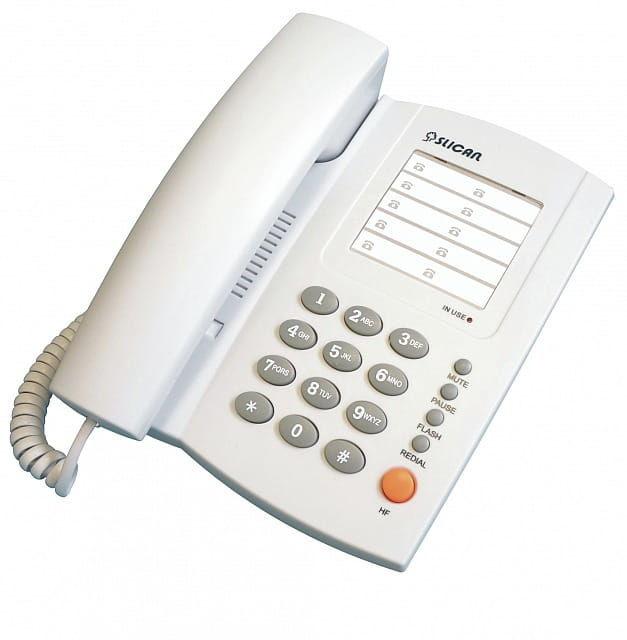 Slican XL-209.GR - telefon przewodowy analogowy
