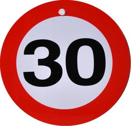 Metalowy znak z przyssawką na 30 urodziny Znak
