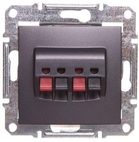 SEDNA Gniazdo głośnikowe podwójne grafitowe SDN5400170