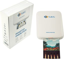 G&G Photo Printer Mini Drukarka do zdjęć z telefonu ZINK