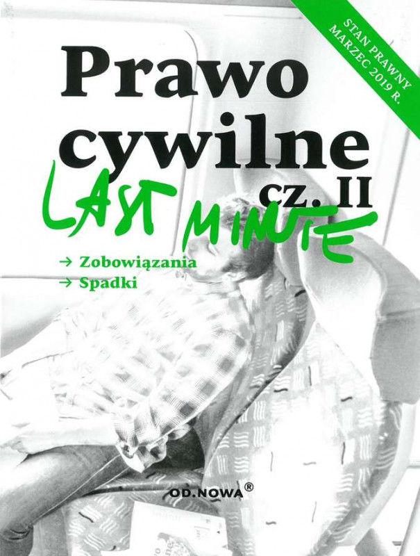 Last Minute Prawo Cywilne cz. II ZAKŁADKA DO KSIĄŻEK GRATIS DO KAŻDEGO ZAMÓWIENIA