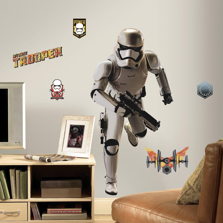 """RoomMates 46 x 13 x 2,3 cm """"olbrzymi żołnierza"""" z możliwością zmiany położenia Gwiezdne Wojny odcinek VII naklejki ścienne"""