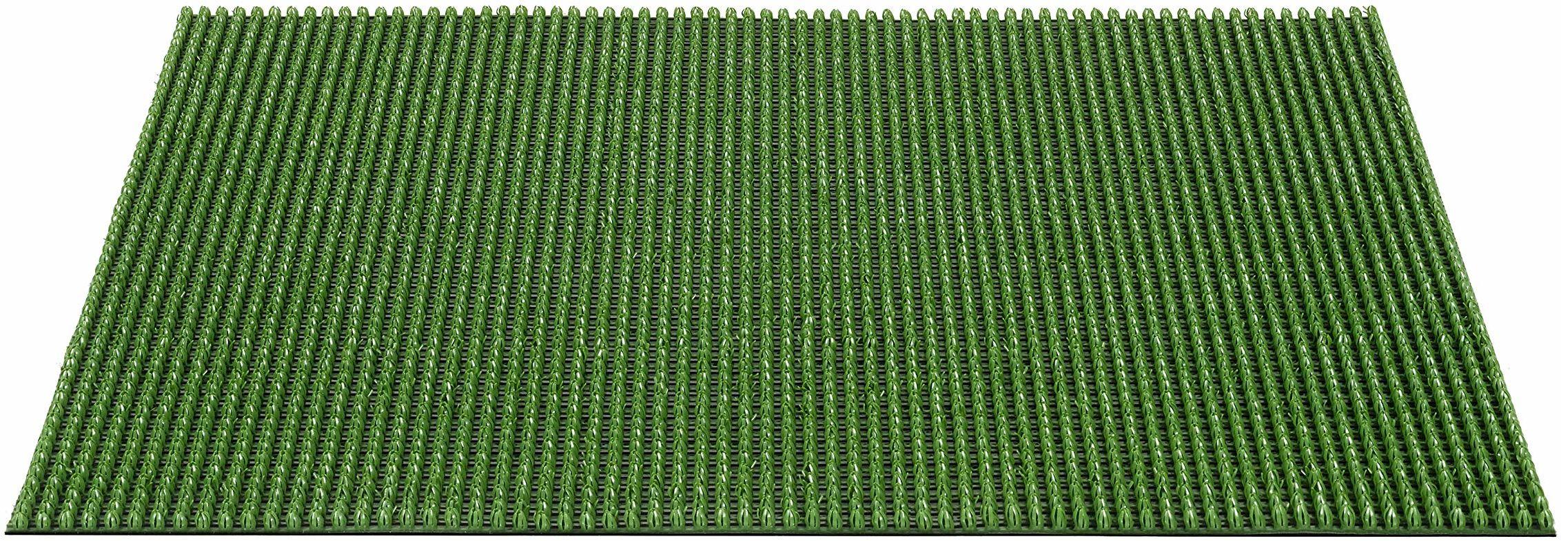 Queens PEethylen na zewnątrz wycieraczka całoroczna, zielona, 60 x 80 cm