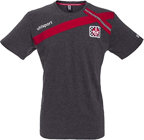 uhlsport FCK T-shirt Cross-Design 15/16, antracyt/chili, XS
